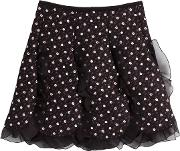 Skirt With Tulle Ruffles