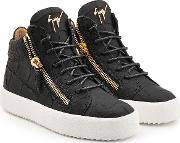 Croc Embossed Leather High Tops