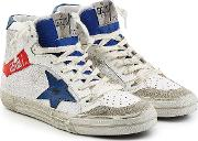2.12 Leather And Suede High Top Sneakers