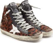 Francy High Top Sneakers With Leather And Calf Hair