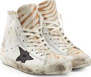 Francy Leather And Haircalf High Top Sneakers