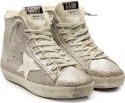 Francy Suede High Top Sneakers With Shearling