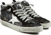 Mid Star Patent Leather Sneakers