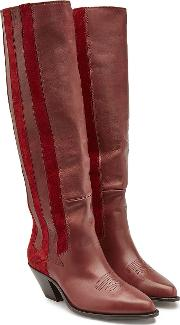 Nebbia Leather And Suede Knee Boots