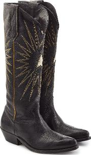 Sunset Leather Knee Boots