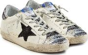 Super Star Leather Sneakers With Sequins