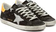Super Star Suede Sneakers With Leather