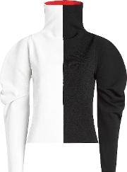 Two Tone Turtleneck Pullover