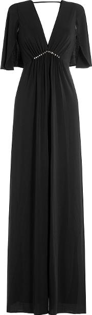 Flutter Sleeve Gown With Embellishment