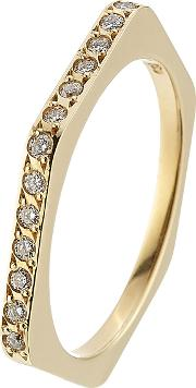 18kt Yellow Gold Ring With White Diamonds