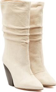 Cristobal Suede Ankle Boots With Leather