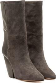 Pari Suede Ankle Boots With Leather