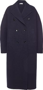 Fidenza Fleece Wool Coat With Cashmere