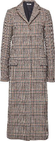 Filadefia Printed Fleece Wool Coat