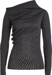 Jil Sander Navy Wool Turtleneck Pullover