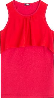 Sleeveless Top With Silk