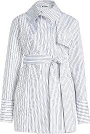 Striped Cotton Trench Jacket