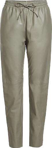 Leather Drawstring Pants