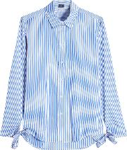 Striped Cotton Shirt With Bows