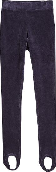 Velour Pants With Stirrups