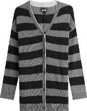 Striped Cardigan With Wool And Cashmere