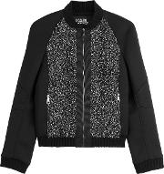 Bomber Jacket With Textured Panels