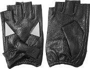 Fingerless Leather Gloves With Embellishment