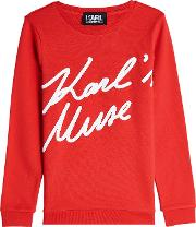 Karl's Muse Cotton Sweatshirt