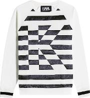 Karl Stripe Sweatshirt