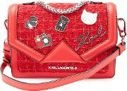 Kklassik Leather Crossbody Bag With Embellishment