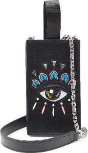 Embroidered Leather All In One Smartphone Carrier