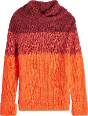Turtleneck Pullover With Mohair And Wool