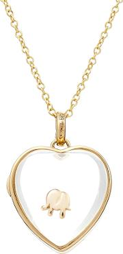 14kt Heart Locket With 18kt Gold Charm