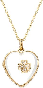 14kt Heart Locket With 18kt Gold Charm And Diamonds