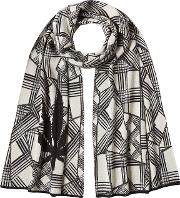Lucien Pellat Finet Printed Cotton Scarf With Cashmere