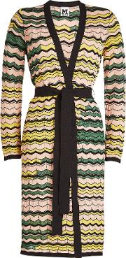 Belted Cardigan With Cotton
