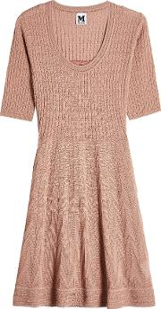 Knit Dress With Cotton