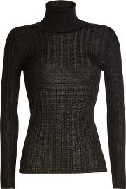 Turtleneck Pullover With Virgin Wool
