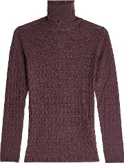 Turtleneck Pullover With Wool