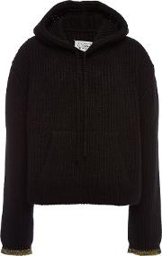 Cashmere Hoody With Wool