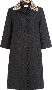 Printed Coat With Silk