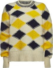 Printed Pullover With Wool And Alpaca