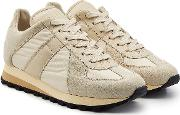 Retro Runner Sneakers With Leather