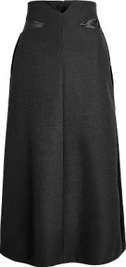 Virgin Wool Midi Skirt