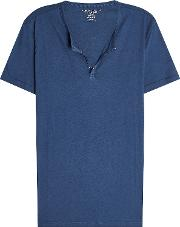 Cotton T Shirt With Buttons