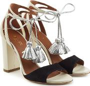Gladys Suede And Leather Sandals With Tassels