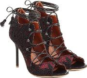 Lace Up Sandals With Lace