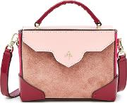 Micro Bold Leather And Suede Shoulder Bag