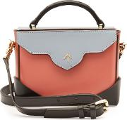Micro Bold Leather Shoulder Bag With Chain Strap