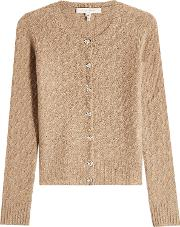 Cashmere Cardigan With Embellished Buttons
